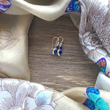 Sterling Silver Earrings Blue
