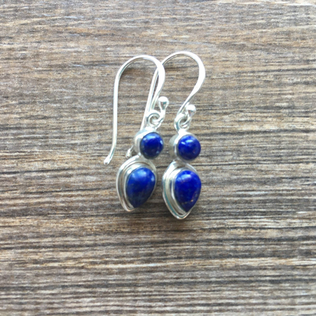 Lapis Sterling Silver Earrings