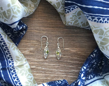 Green Sterling Silver Peridot Earrings