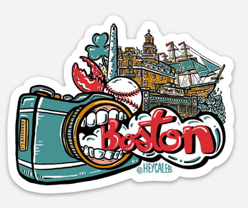 Boston Hungry Camera Sticker