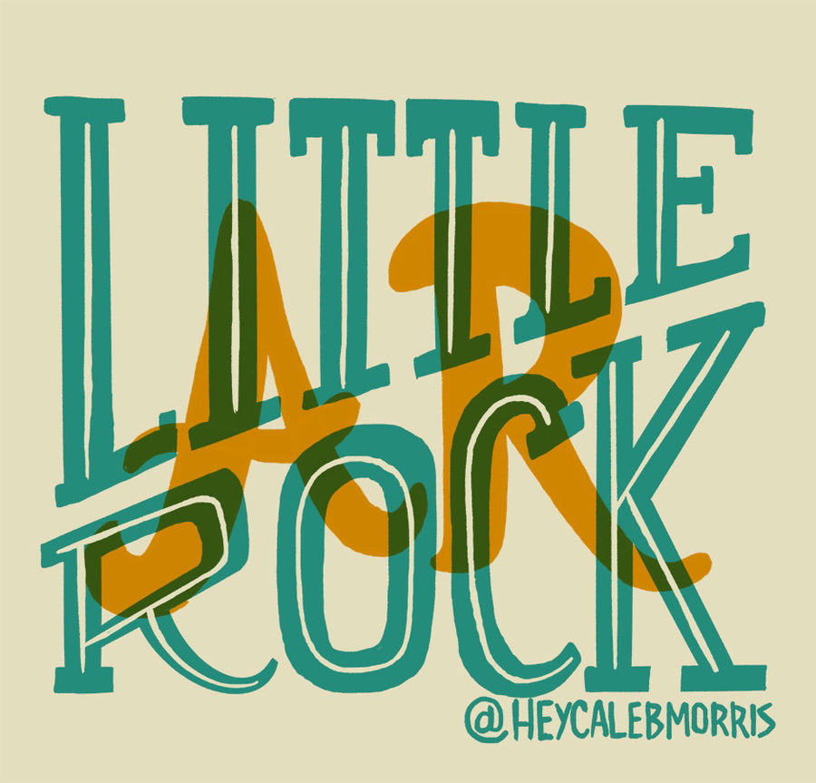 Little Rock Stacked Sticker