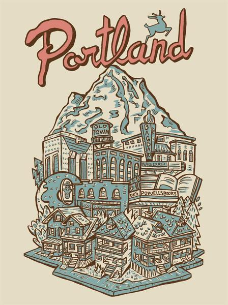 All 4 Prints of Portland