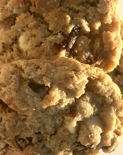 Cranberry White Chocolate Chip Cookies - One (1) Dozen