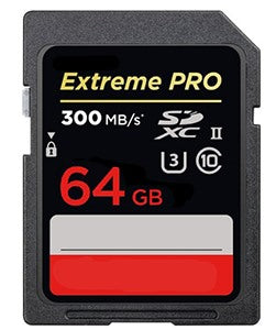 300mb/s Extreme PRO 64GB SD Memory Card