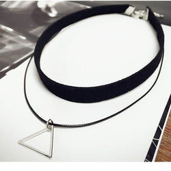 Multilayer Triangle Geometric Choker - Luisa's World of Fashion