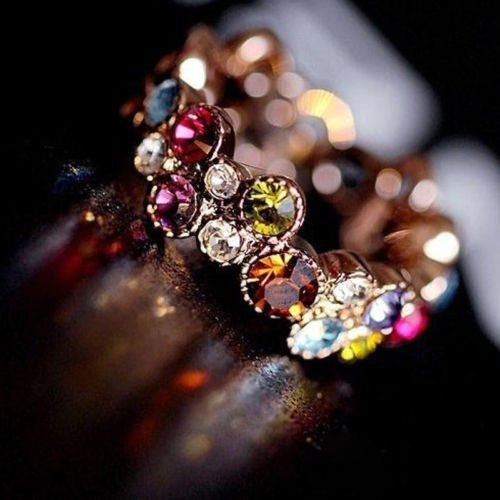 Austrian Crystal Stellux 18GP Love Ring - Luisa's World of Fashion