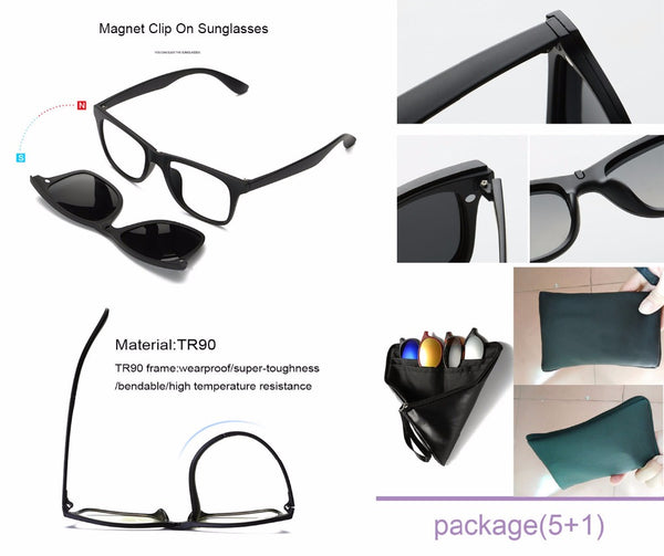 5 in 1 Magnetic Lens Swap-able Sunglasses – Mojofinds