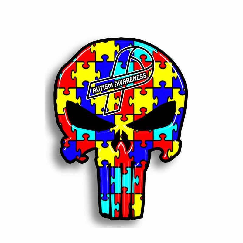 19b63618be5 Autism Awareness Heart Puzzle Car & Motorcycle Decal - Different Not ...