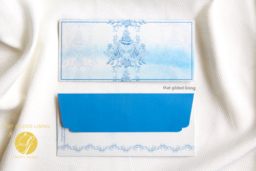 Everyday Money Envelopes- Pack of 20- Azure Rose