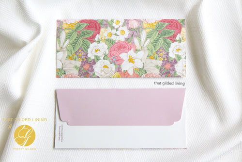 Everyday Money Envelopes- Pack of 20- Garden Bloom