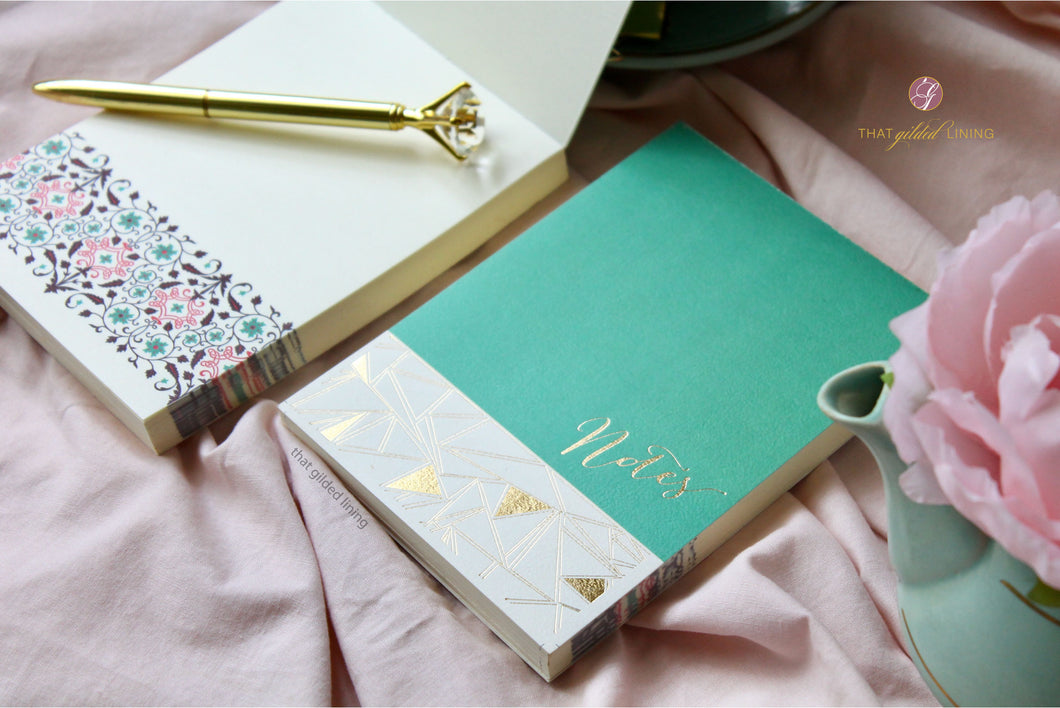 SALE- Geometric Glam Notepad