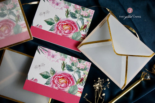 Folded Notecards- Spring Bloom- Pack of 10 and 20