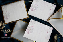 Folded Notecards- Frosted Floral- Pack of 10 and 20