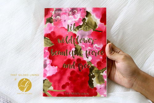 Wildflower (Red)- Notebook