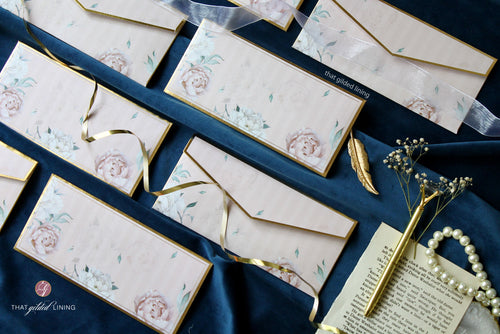 Money Envelopes- Florence - Pack of 20, 50 & 100 [CUSTOMISED]