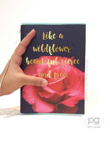 Wildflower (Navy Rose)- Notebook