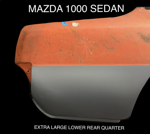 MAZDA 1000 SEDAN EXTRA LARGE LOWER REAR QUARTER