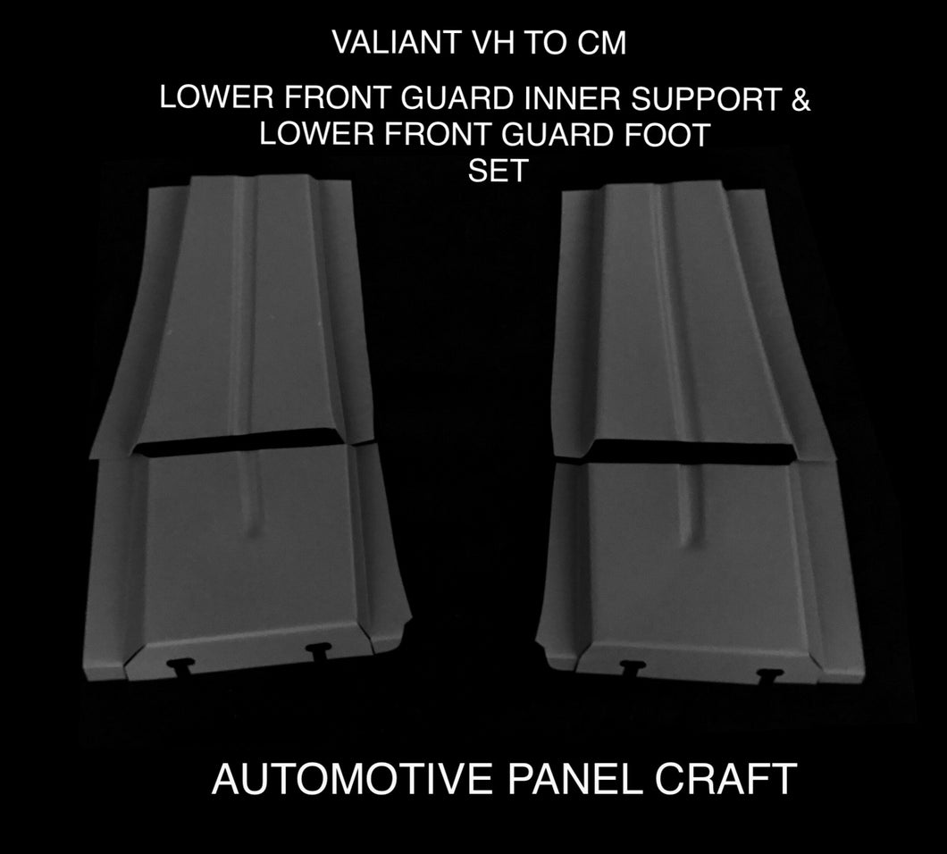 FITS VALIANT VH TO CM  LOWER FRONT GUARD INNER SUPPORT & LOWER FRONT GUARD FOOT SET