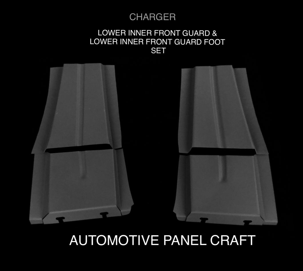FITS VALIANT CHARGER LOWER FRONT GUARD INNER SUPPORT & LOWER FRONT GUARD FOOT SET