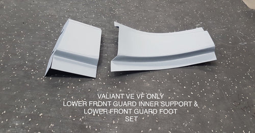 FITS VALIANT VE VF VG LOWER INNER  FRONT GUARD SUPPORT &  LOWER INNER FRONT GUARD FOOT SET
