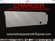 VALIANT CHARGER TOP OF BOOT FLOOR EXTENSION RUST REPAIR PANEL