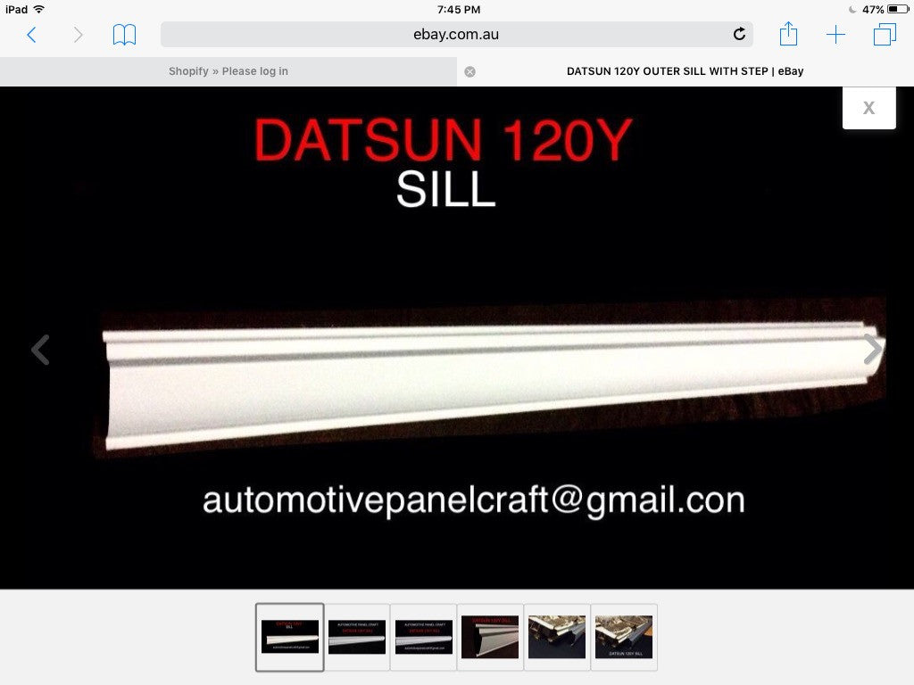 DATSUN 120Y OUTER SILL WITH STEP