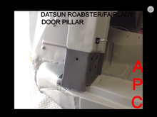 DATSUN ROADSTER DOOR PILLAR HINGE