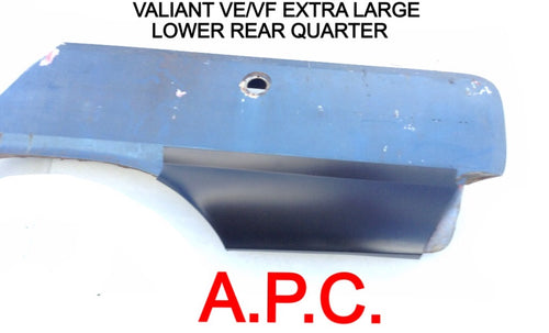 VALIANT VE VF VG EXTRA LARGE LOWER REAR QUARTER