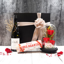 Valentine's Day Flower Hampers Love Romance Wine Gift. Free delivery in Singapore.