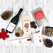 End your year on a high note with our Christmas Cheer Hamper, filled with tasty treats like Bedetti Nougurt, Borsari Mini Panettone, The Whole Kitchen Biscotti and wines
