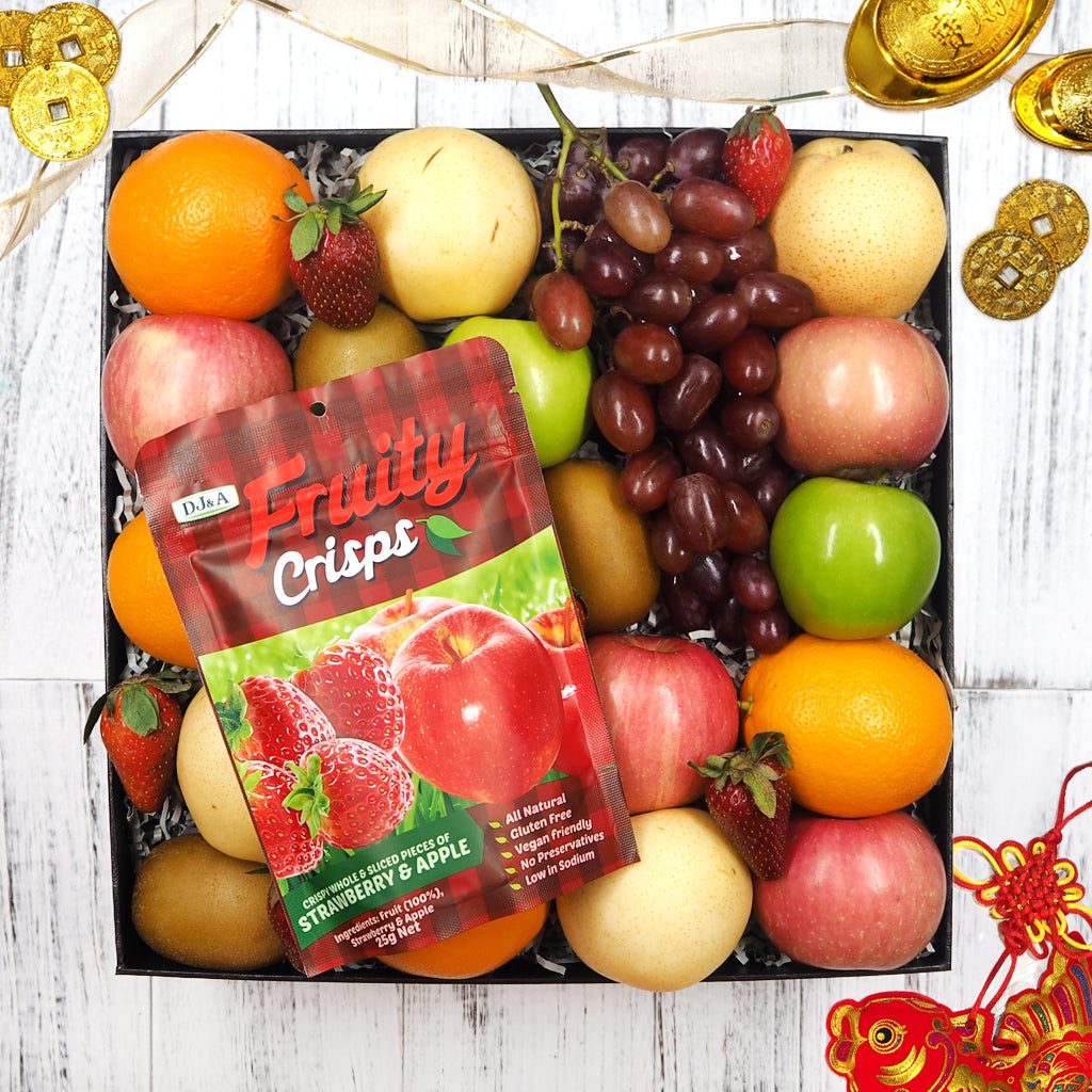Chinese New Year Healthy Snacks & Fruit Hamper. Free delivery in Singapore.