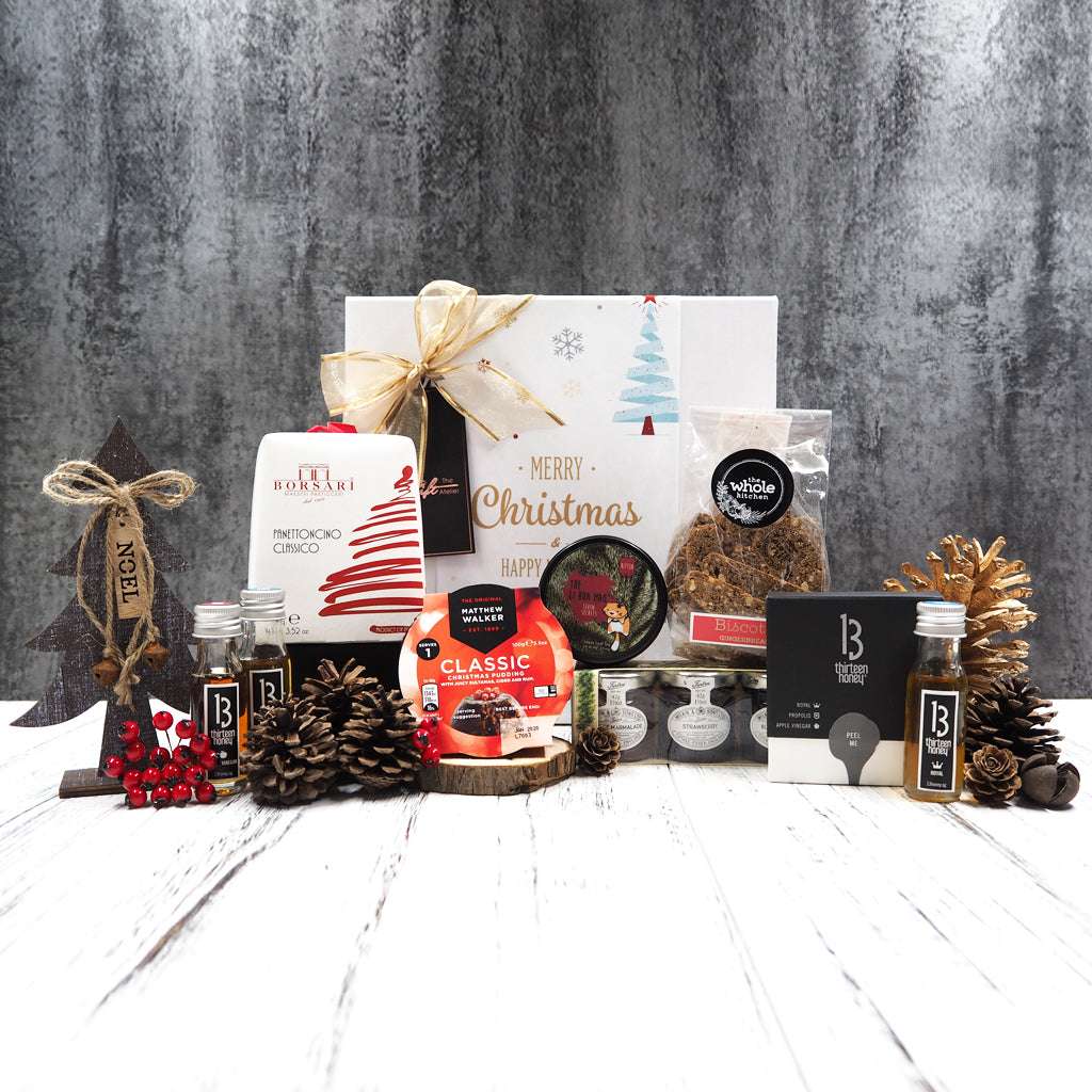 Our Classic Festive Tea Hamper contains delectable goodies that goes so well with tea, making this the perfect Christmas gift for a tea lover.