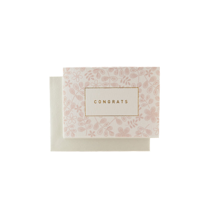 Congrats Floral Pink Message Gift Card