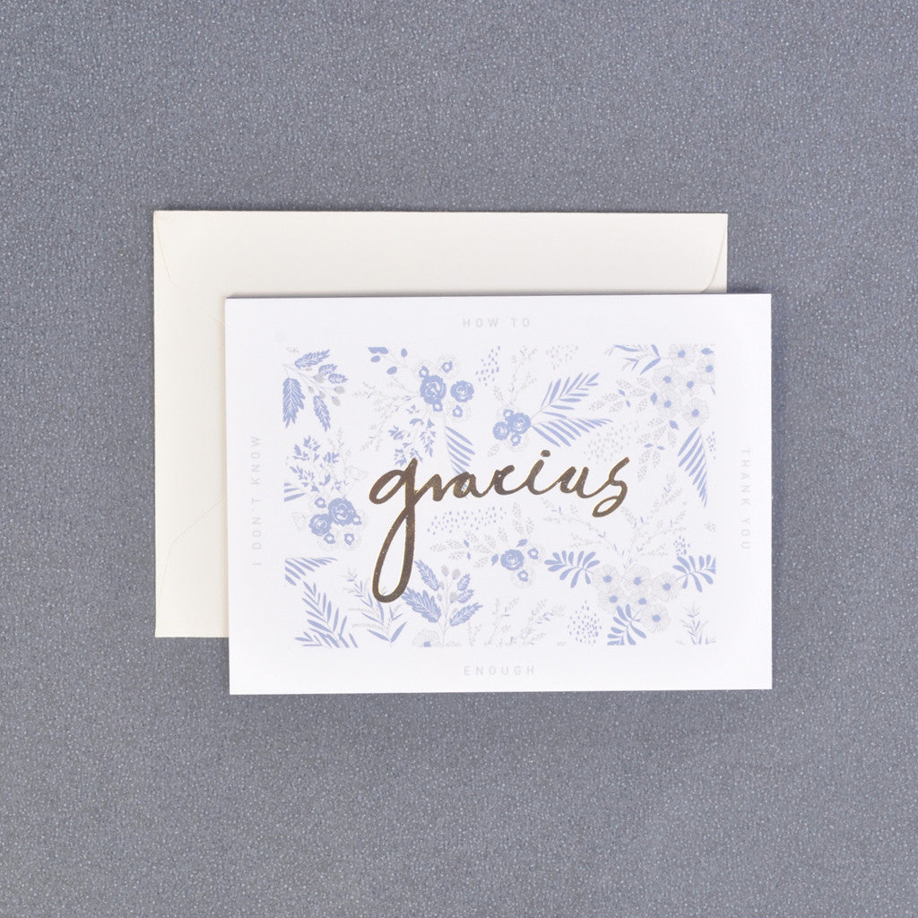 Gracias Thank You Floral Message Gift Card