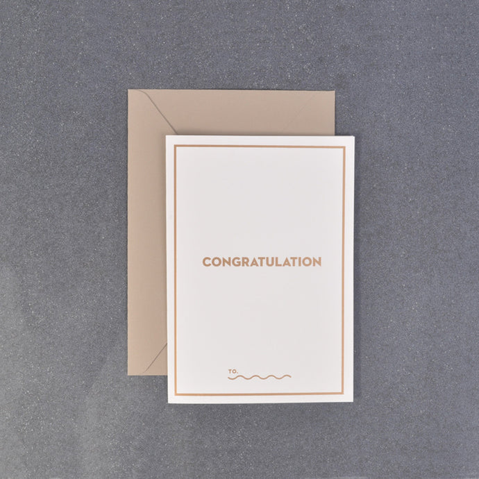 Congratulations Message Gift Card from Korea