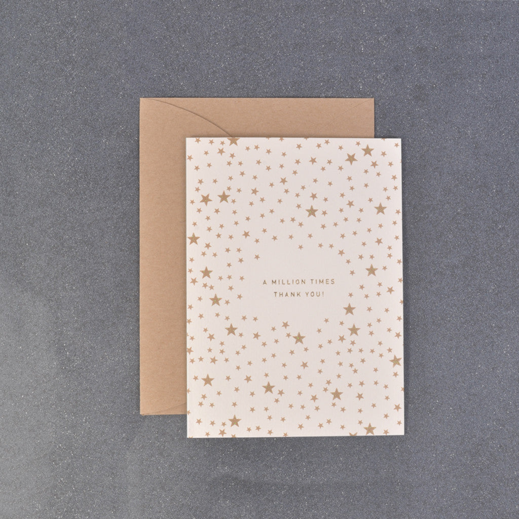 A Million Times Thank You Message Gift Card with Stars