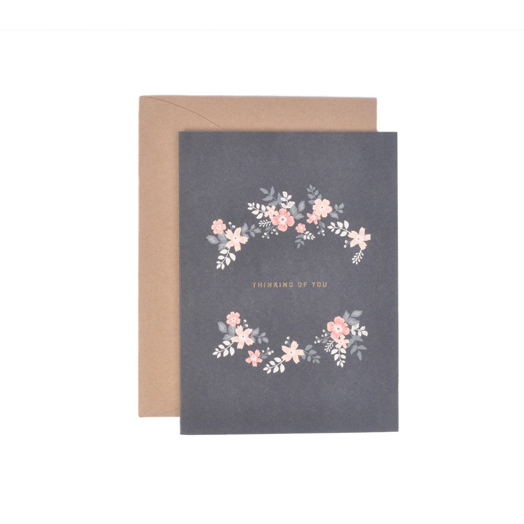 Thinking of You Floral Message Gift Card from Korea