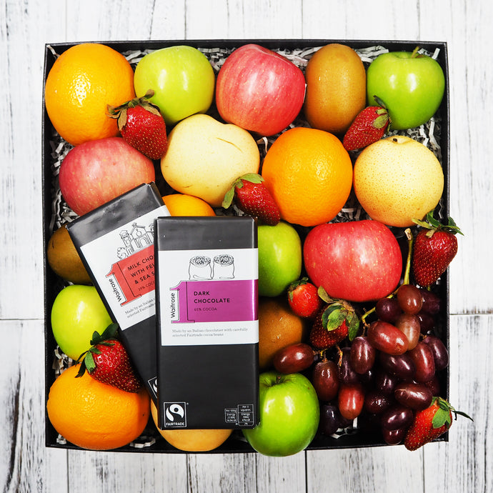 Waitrose Chocolate Bar with Fruit Hampers. Free delivery within Singapore.