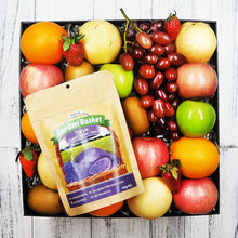 Garden Basket Purple Sweet Potato Chips with Fruit Gift Hamper. Free delivery within Singapore.