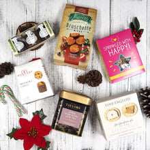 Our Holiday Treats Hamper is packed with holiday season favourites such as tea, chocolate biscuits, panettone and savoury crackers that they'll love!
