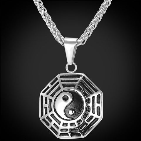 Yin Yang Eight Diagrams Pendant Necklace