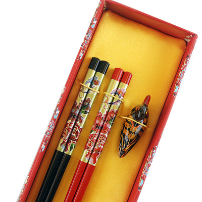 Wood Chopsticks with Holders and Gift Box