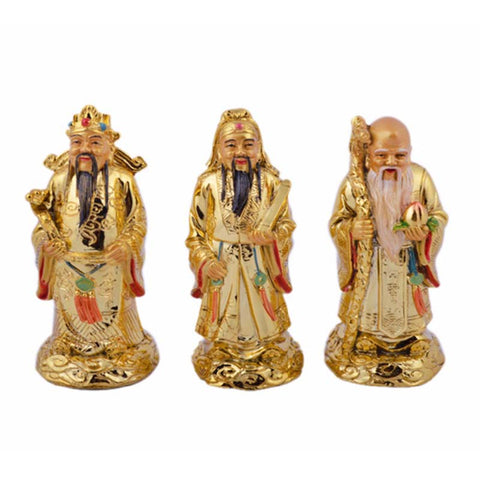 Feng Shui Gods of Wealth -  Fuk Luk Sau