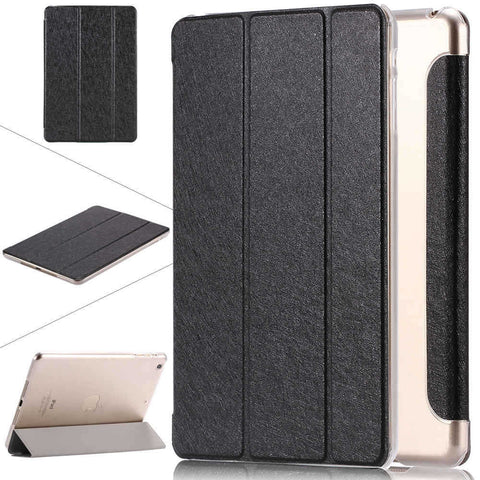 Leather iPad Case Silk Slim Clear Transparent Smart Back Cover for Apple iPad Mini 1, 2, 3 - Secure Wallet & Phone