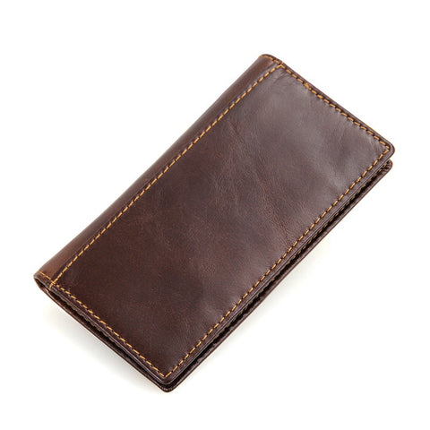 Men's Genuine Leather Wallet with RFID Signal Blocking Technology - Secure Wallet & Phone