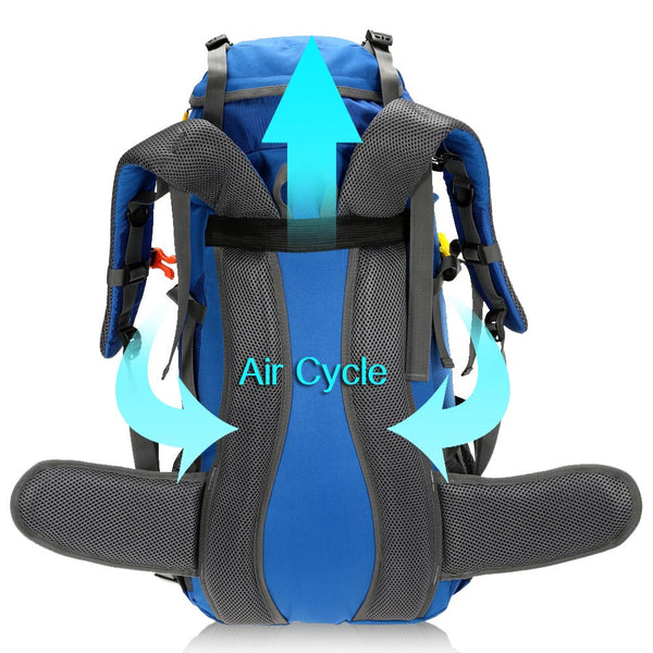 45+5L Mountaineering Travel Outdoor Sport Hiking Camping Backpack - Secure Wallet & Phone