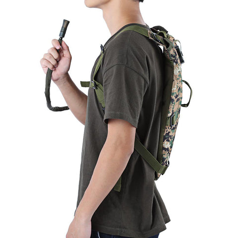 3L Tactical Water Hydration Camelback - Secure Wallet & Phone