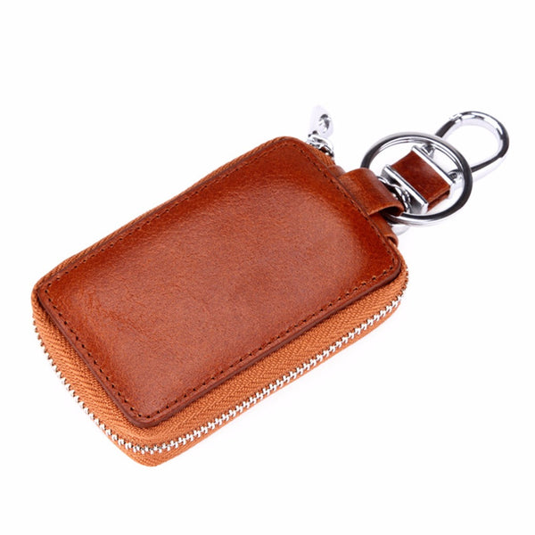 Leather Key Wallet & Ring - Secure Wallet & Phone