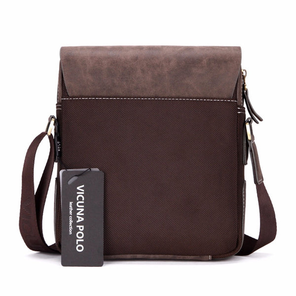 VICUNA POLO Patchwork Leather Handbag - Secure Wallet & Phone