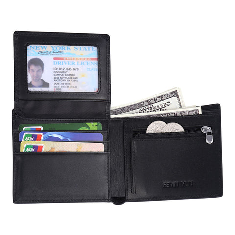 New Carbon Fiber Genuine Leather Wallet with RFID Signal Blocking Technology - Secure Wallet & Phone